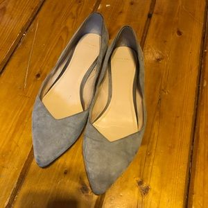 Cole Haan suede point flats